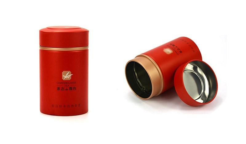 Custom Logo Tea Time Cylinder Tin Metal Can For Tea Coffee